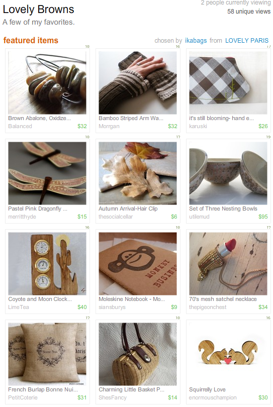 Etsy Treasury - Lovely Browns_1251372776983