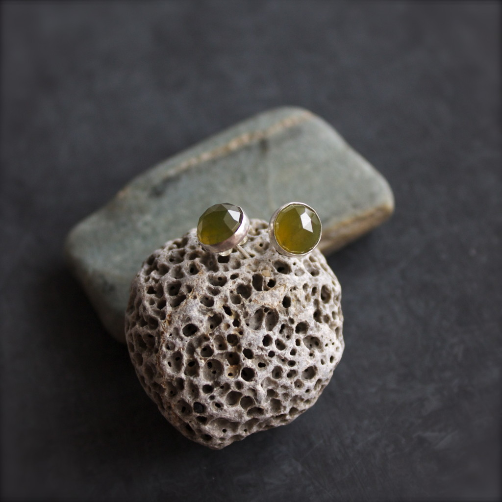 green vessonite earrings